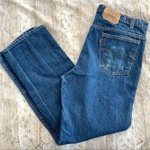 Vintage 70s Orange Tab Levis Straight Leg Jeans